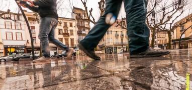 Pamiers Centre ville pluie